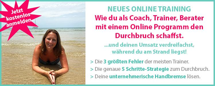 Webinar Durchbruch mit eigenem Online Programm